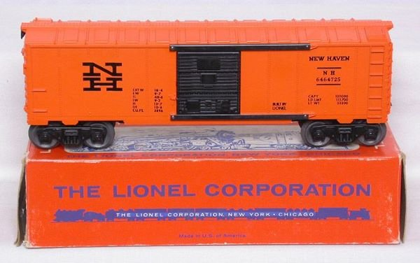 3013: Mint Lionel 6464-725 New Haven boxcar in box