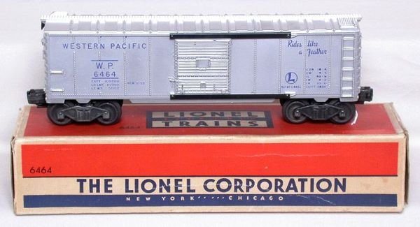 3014: Unrun Lionel 6464-1 Western Pacific boxcar in OB