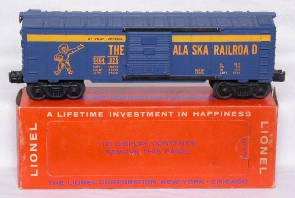 3016: Mint Lionel 6464-825 Alaska boxcar in box