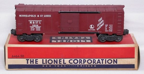 3018: Nice Lionel 6464-50 M&StL boxcar in box