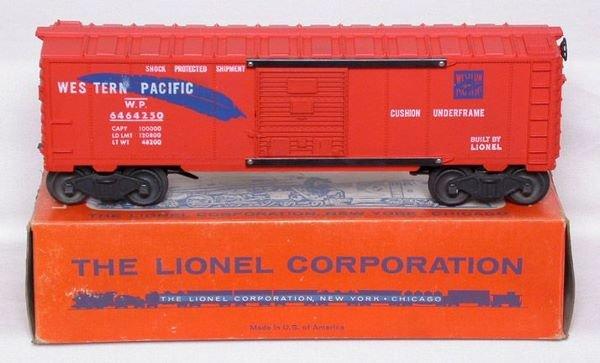 3019: Unrun Lionel 6464-250 Western Pacific boxcar, OB