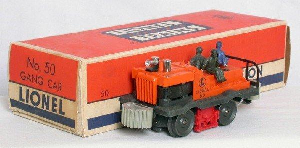 3084: Lionel gray bumper 50 gang, reverse men, OB