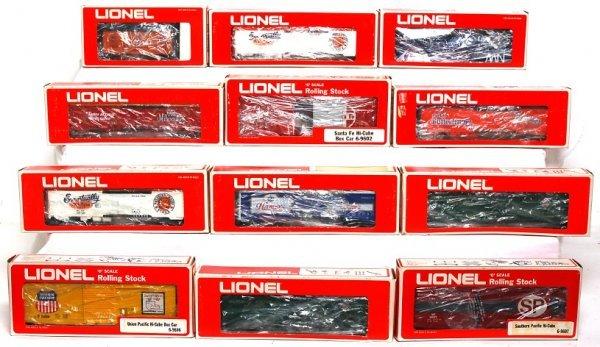 3: Twelve Lionel freight cars in original boxes