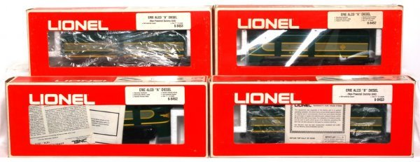 4: Two Lionel 8452 and two 8453 Erie Alco A-B-B-A