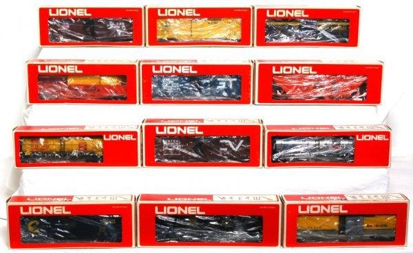 10: Twelve Lionel freight cars in OB