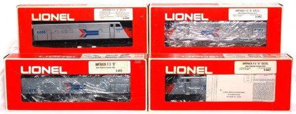 15: Lionel 8466, 8467, 8475, 8467 Amtrak F-3 diesels