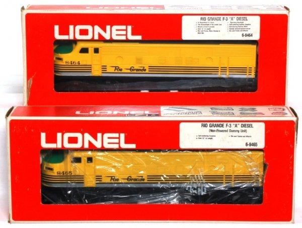 21: Lionel 8464 and 8465 Rio Grande F-3 A units in OB