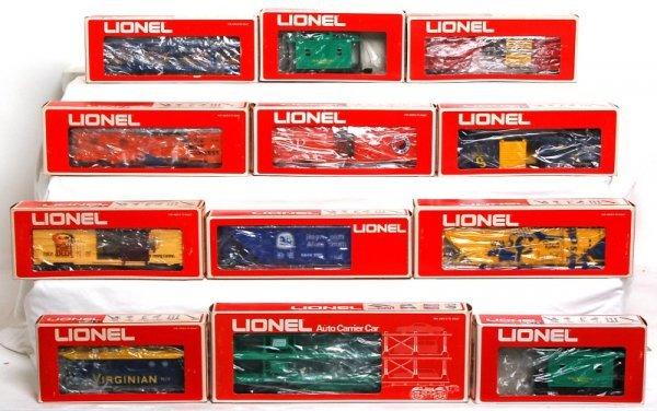 22: Twelve Lionel freight cars in original boxes