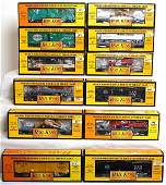 84 Twelve MTH Rail King freight cars in OB