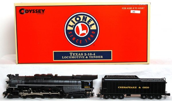 95: Lionel 28079 C&O 2-10-4 Texas loco and tender