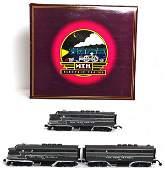 159: MTH 20-2176-1 NYC F3 A-B-A diesel set in OB