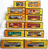 163 Twelve MTH Rail King freight cars in OB