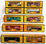 192 Ten MTH Rail King freight cars in original boxes