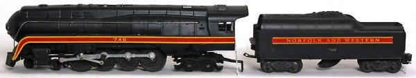 825: Lionel 746 Norfolk and Western, short stripe