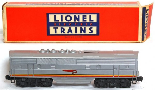 832: Lionel 2243C Santa Fe F3 B unit only, OB