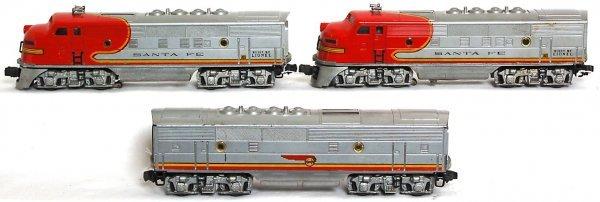 833: Lionel Santa Fe 2343 F3 ABA units