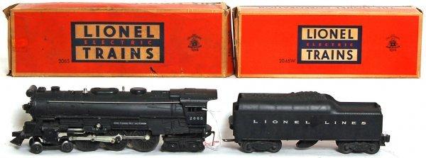 835: Lionel 2065 Hudson, 2046W tender, OB