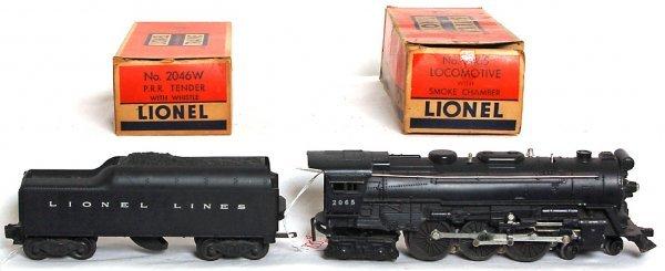 835: Lionel 2065 Hudson, 2046W tender, OB - 2