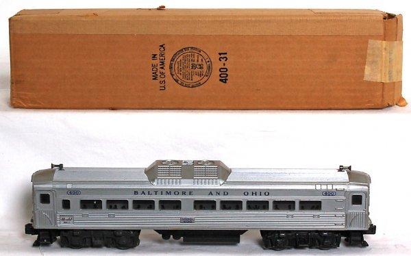 839: Lionel 400 Baltimore and Ohio BUDD RDC car, OB