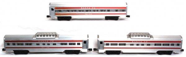 905: Lionel 2562, 2562, 2563 Santa Fe passenger cars