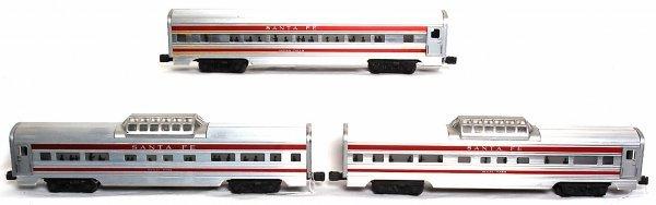 905: Lionel 2562, 2562, 2563 Santa Fe passenger cars - 2