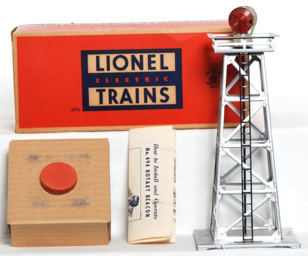 969: Lionel 494 rotating beacon in OB w/inserts