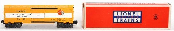 976: Lionel 6464-500 Timken boxcar, brick OB