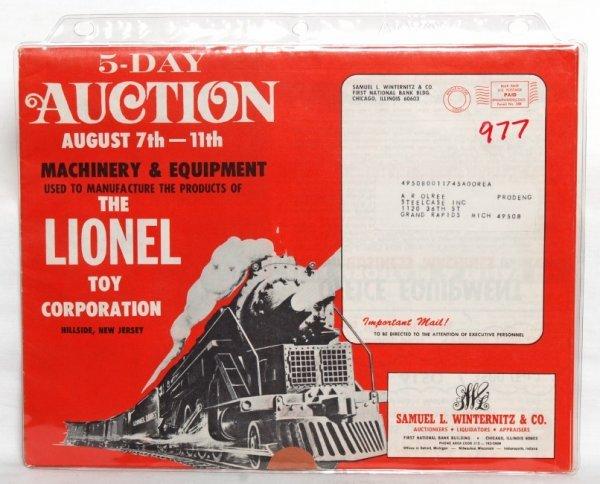 977: Neat Lionel auction catalog Hillside, NJ