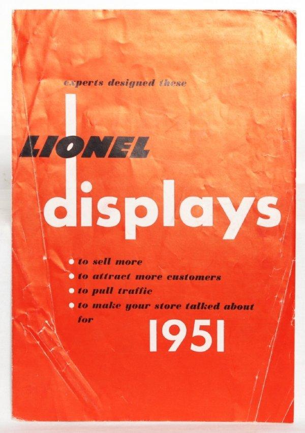 988: Neat Lionel dealer display foldout 1951