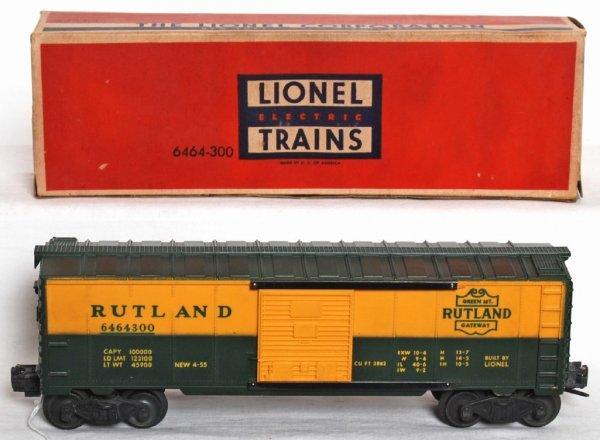 990: Unrun Lionel 6464-300 Rutland boxcar OB