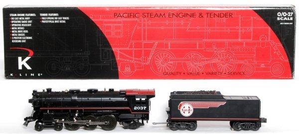 14: K-Line K-300302 Santa Fe steam loco in OB