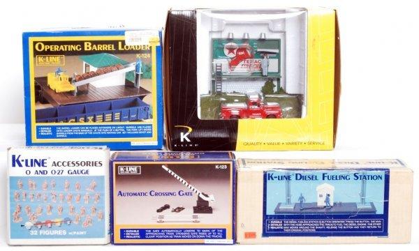 19: K-Line O gauge accessories in original boxes