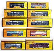 85 Ten MTH Rail King freight cars in original boxes