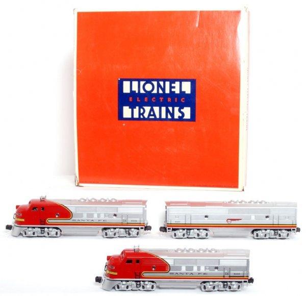 340: Lionel 11711 Santa Fe F3 diesel A-B-A units