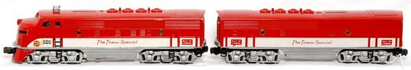 818: Lionel 2245 Texas Special F3 AB units