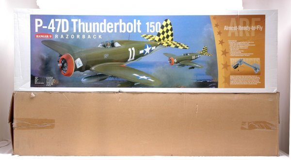 408: Hangar 9 P-47D Thunderbolt Remote Airplane MIB