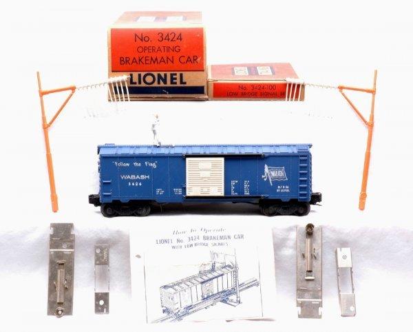 601: Lionel 3424 Operating Brakeman Car Boxed