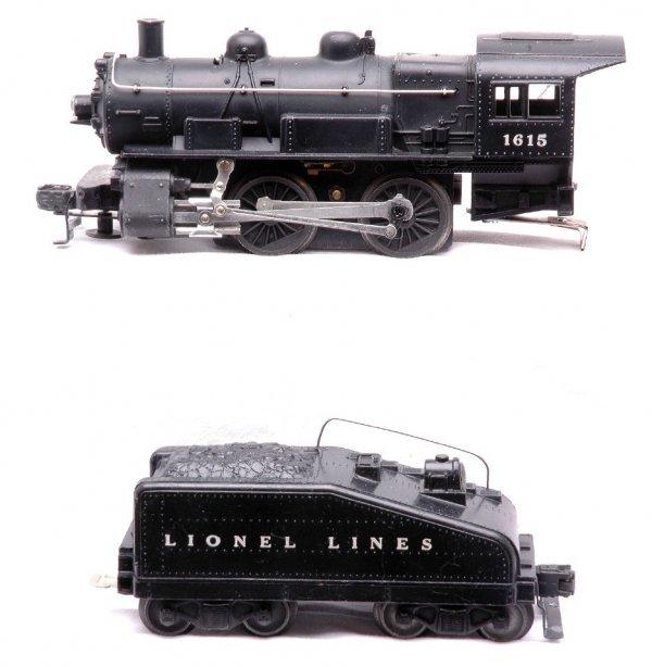 612: Lionel 1615 Steam 0-4-0 Loco Slope Back Tender