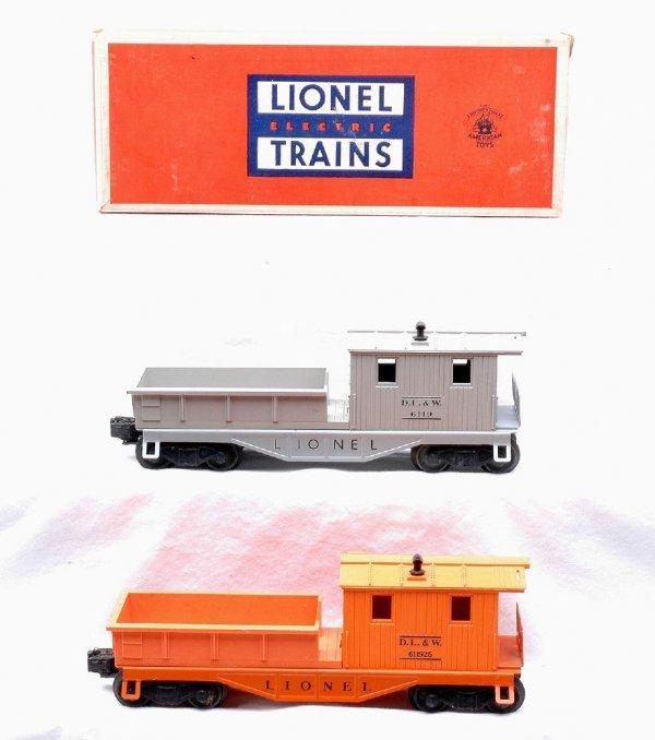 613: Lionel 6119-25 Orange 6119-75 Work Caboose LN OB
