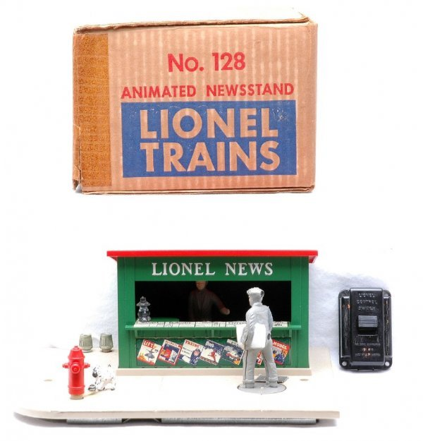 616: Lionel 128 Animated Newsstand Boxed