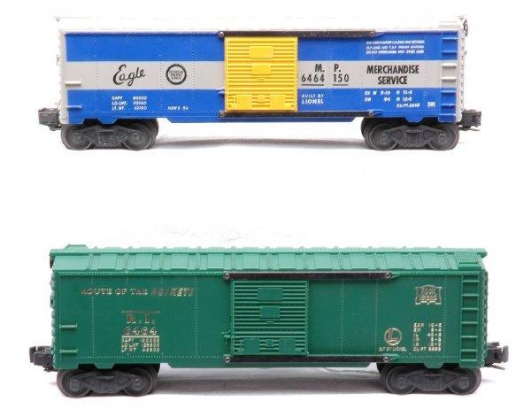 619: Lionel 6464-75 RI 464-150 MP Boxcars