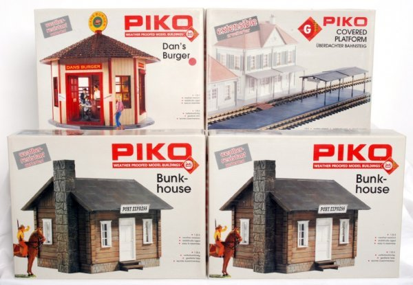 3: Four Piko G scale buildings in original boxes