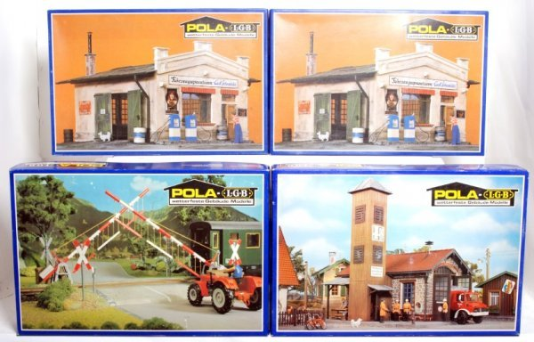 10: Four Pola LGB G scale building kits in OB