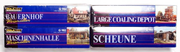 11: Four Pola G scale building kits in original boxes - 2