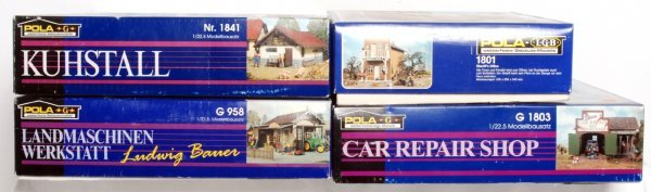 21: Four Pola G scale building kits in original boxes - 2
