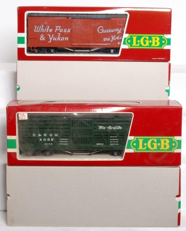 24: LGB G scale 4068, 4167, 4074, 45910 U.S. freight