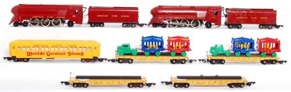 20: American Flyer 353, 353, 649, four 643 Circus