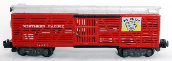 24: American Flyer 24077 Northern Pacific Pig Palace
