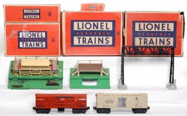 6: Lionel 3656, 3472, 450 in original boxes