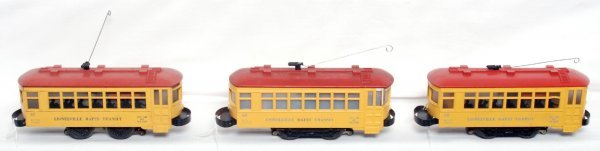 13: Three Lionel No. 60 trolleys